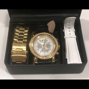 Luxurman Diamond Bezel Watch